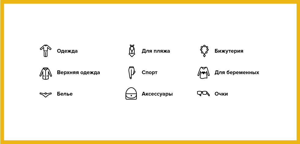 Category icons of the Dolce Vitta project by Ttwozero Words